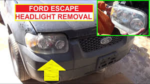 Brake Light Bulb For 2005 Ford Escape How To Remove And Replace The Headlight On Ford Escape 2001 2002 2003 2004 2005 2006 2007