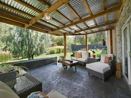 corrugated metal porch roof