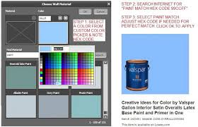 RoomSketcher Match Paint Color Using Custom Color Picker