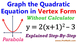 how to graph quadratic equations in vertex form without a calculator