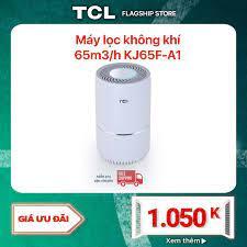 Máy lọc không khí tcl air purifier kj65f-a1 - bộ lọc 3 lớp lên đến 2100 giờ  - tùy chỉnh tốc độ gió và đèn led - kích thước nhỏ gọn -
