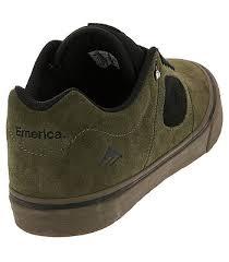 Emerica Shoes Size Chart Shoes Emerica Reynolds 3 G6 Vulc Olive Black Gum Men S