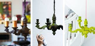 what i love right now spray painting the old chandelier diy