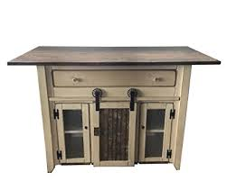 kitchen island with barn door counter height amish made in usa