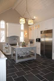 charcoal tile floor with white cabinets kitchen grey kitchen floor tiles ideas