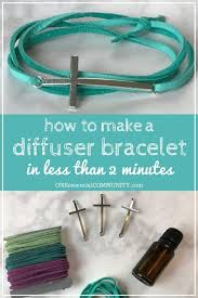 make your own diy essential oil diffuser bracelet with just a couple of supplies less