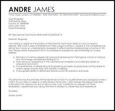 Field Service Technician Cover Letter Sample Cover Letter