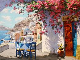 italian cafe painting best 2018