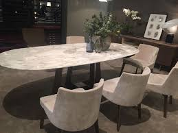 marble oval dining table design