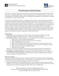 graduate essays  sample graduate school essays   california state university