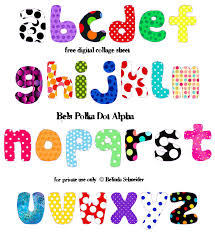 collage fonts free polka dot sky