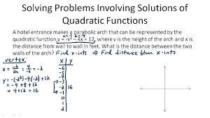 solving quadratic equations word problems worksheet