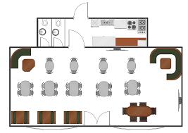 Café Floor Plan Example  Professional Building DrawingCafeteria Floor Plan