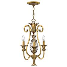 plantation 3 light mini chandelier by hinkley lighting image 2