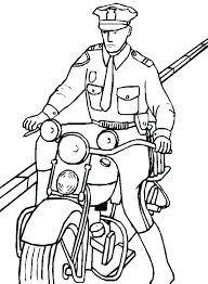 Police Coloring Book Pages Police Coloring Pages To Print Police