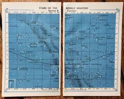 Complete Star Chart 1920 Star Chart Prints Original Vintage Celestial Astronomy
