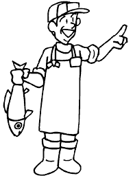 Small Picture Fisherman People Coloring Pages Coloring Book