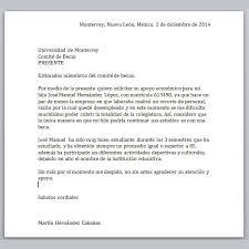 Formato De Carta De Solicitud Ejemplos De Carta De Solicitud De Beca