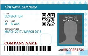 identity card template word id badge template free blank id card template photoid template