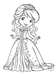 Strawberry Shortcake Princess Coloring Pages Audiczinfo