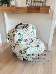 stretchy car seat cover pattern make