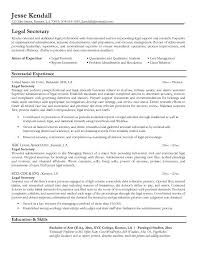 legal resumes | Legal Secretary Resume Sample