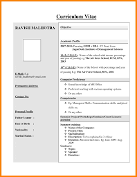 100 Mba Fresher Resumes 5 Hr Fresher Resume Template 5 Free