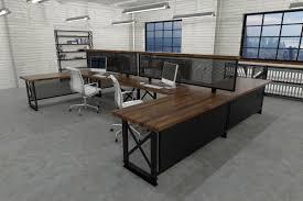 industrial office furniture. Harrod Carruca Workstation  industrial Office Furniture   Modern Industrial Commercial Rustic N