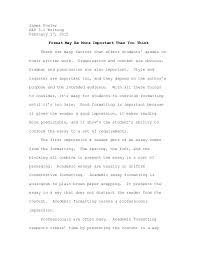 essay formatting example essay formatting example james fowler aep 3 1 writing 17 2015 format be more important than you
