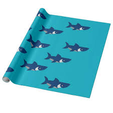 shark design wrapping paper com shark design wrapping paper