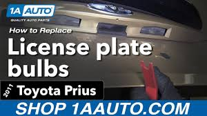 Toyota Camry License Plate Light Replacement 2010 Prius License Plate Light Pogot Bietthunghiduong Co