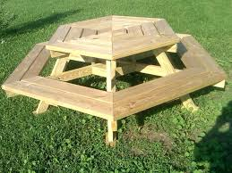 round picnic table wooden octagon picnic table with swing up benches built in inspiring folding bench round picnic table
