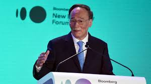 Delegation Chinese Lead To Vice Wang South Qishan Davos president PSqR0