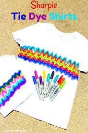 learn how to make super cool sharpie tie dye shirts tie dye craft kid