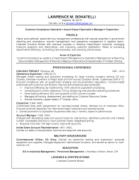 Resume Compliance Manager Resume