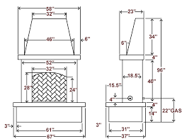outdoor fireplace dimensions design