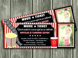 Luxury Ticket Invitation Template Free Movie Concert Night Family