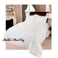 chenille wedding ring vintage ivory bedspread shams 100