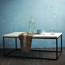 box frame coffee table whitewashed mango west elm