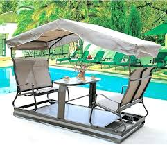 bench swing with canopy furniture patio swing canopy cover black polished wrought