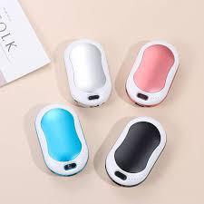 Lò Sưởi Tay Mùa Đông 4 Trong 1 Đèn LED Nhấp Nháy Sạc Dự Phòng 3 Cấp Độ Ấm  1000Mah Máy Mát Xa Tay Ấm Hơn Mini USB Sạc