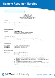 Free Resume For Students Example Student Nurse Resume Free Sample Nursing School Adorable 51