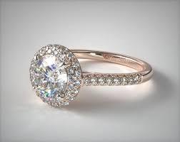 falling edge pave diamond engagement ring 14k rose gold 17085r14