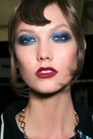 beauty trend to try this fall blue eye makeup do you dare see