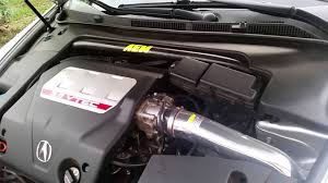 2007 acura tl type s with a AEM cold air intake - YouTube