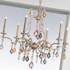 modern ivory multi coloured chandelier