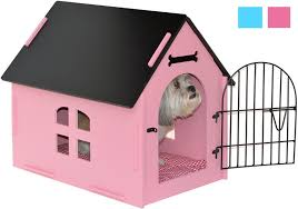 pink dog kennel