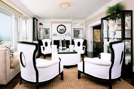 elegant art deco furniture in black and white contemporary interior space dream home