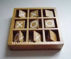 Wooden Naughts And Crosses Game Tic Tac Toe Wooden Game Made Of Bamboo Noughts And Crosses Game 4