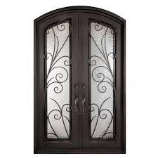 X  Double Door Front Doors Exterior Doors The Home Depot - Iron exterior door